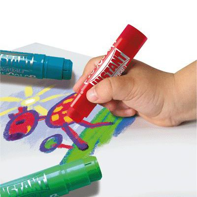 Tempera Paint Sticks 12 Colors : no mess paints for kids : Stubby Pencil Studio http://www.stubbypencilstudio.com/product/JACK_PCSTANDARD12/Tempera-Paint-Sticks-12-Colors/