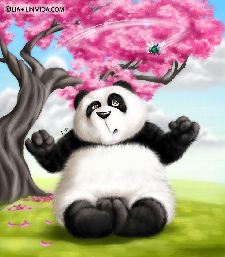 Для, открытки мишка панда