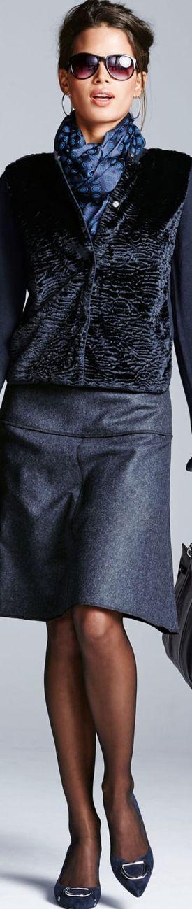 Madeleine Navy Skirt and Blazer