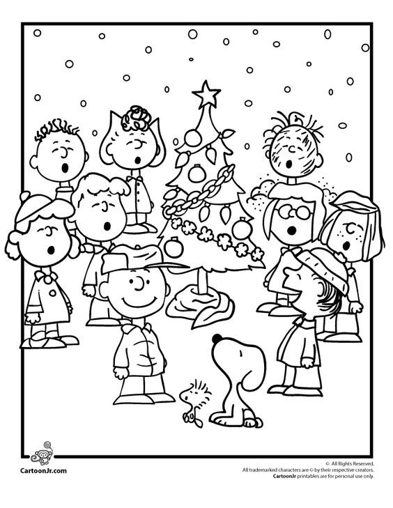 A Charlie Brown Christmas Coloring Pages Charlie Brown Christmas Coloring Pages with the Peanuts Gang – Cartoon Jr.: