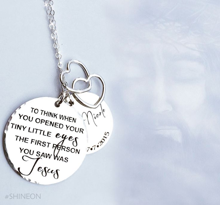 """""""To think when you opened your tiny little eyes the first person you saw was Jesus"""" Our baby memorial custom necklace for an amazingly strong mommy that endured a miscarriage: """"I have gone the last 8                                                                                                                                                       More"""