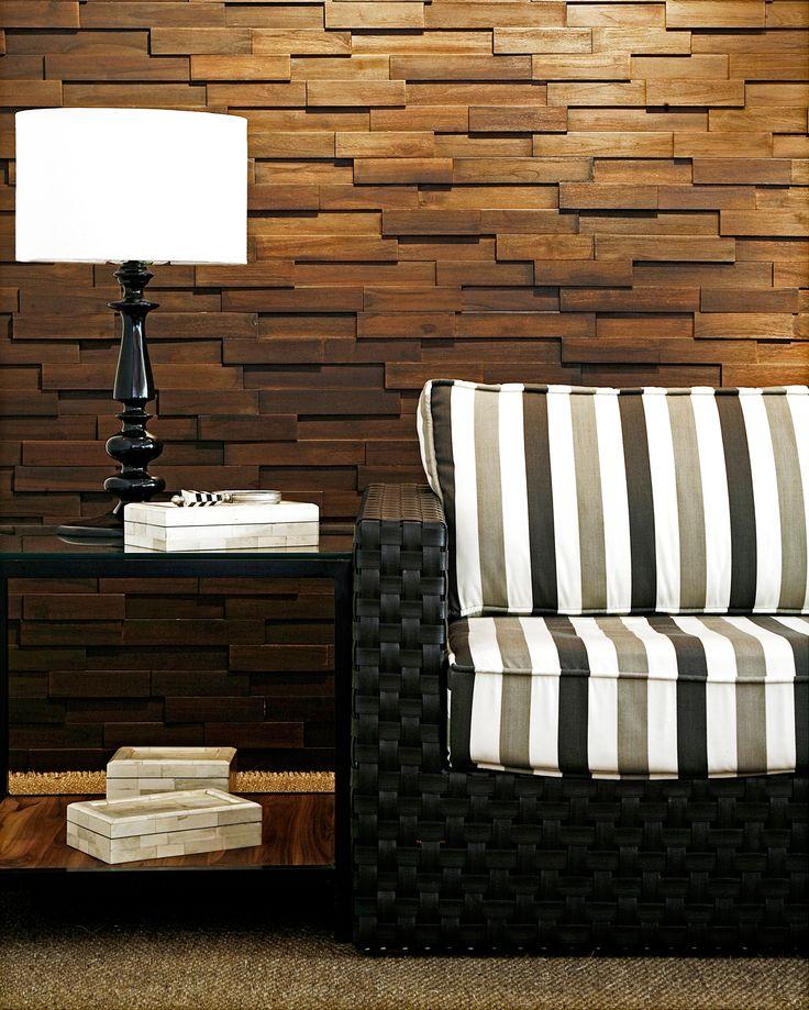 Muros revestidos en madera