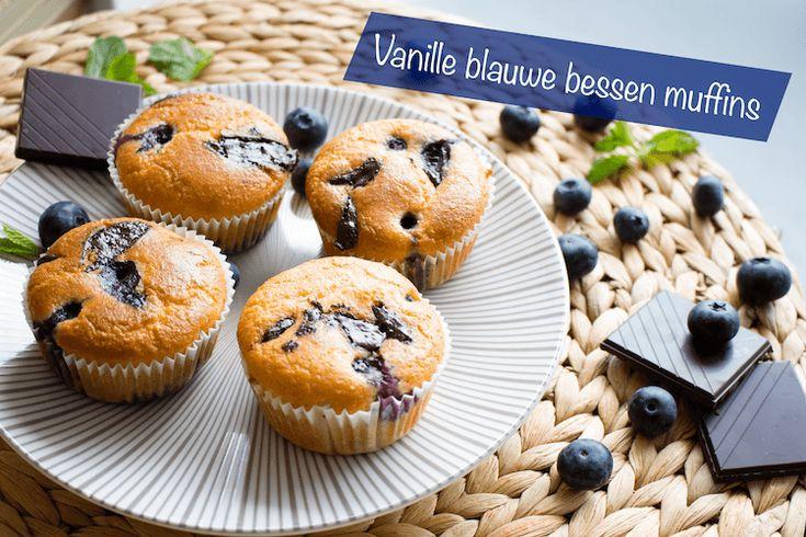 Vanille blauwe bessen muffins