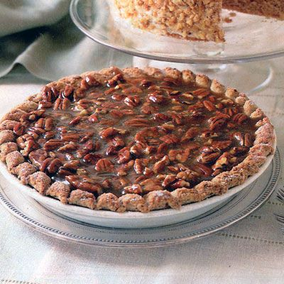 Slice by slice, this will vanish quickly  toasted pecans in the crust give the pie extra appeal.