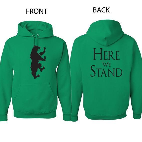 Game Of Thrones House Stark Men Sweatshirt Winter Is Coming Hoodie 2017 Look