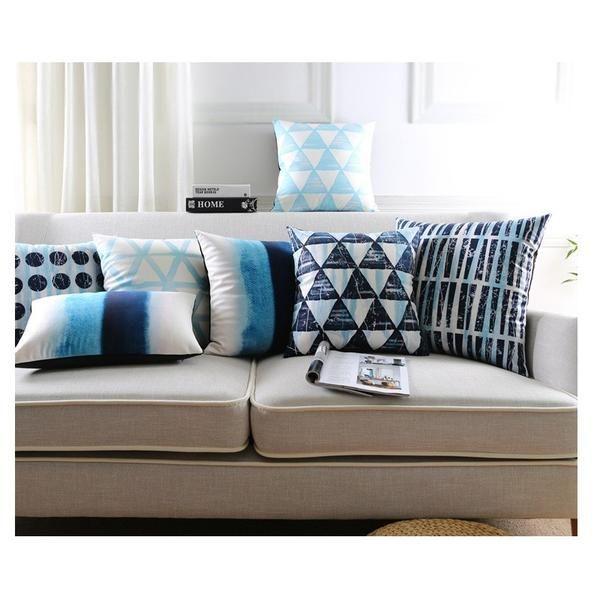 Range of Blue Cushions - Pin for inspo!