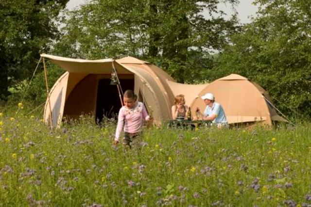 Glamping made easy... karsten inflatable canvas tents.