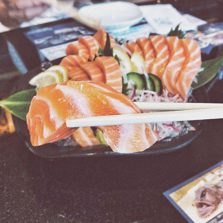 Salmon sashimi @ sushi hiro, Rama9 Bangkok, Thailand