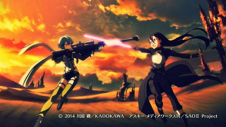Sword Art Online 2 - GGO Opening. I love all the details subtly added to the opening! <3