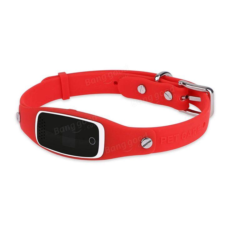 Pet GPS Tracker Collar S1 GPS+LBS+WIFI Positioning Real Time Tracking Smart GPS Locator Free APP at Banggood