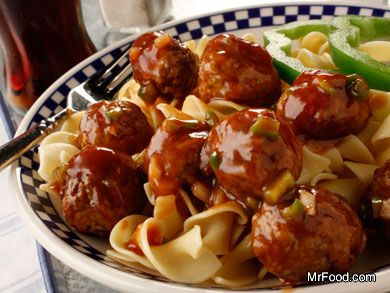 Mr Food Cola Meatball Recipe