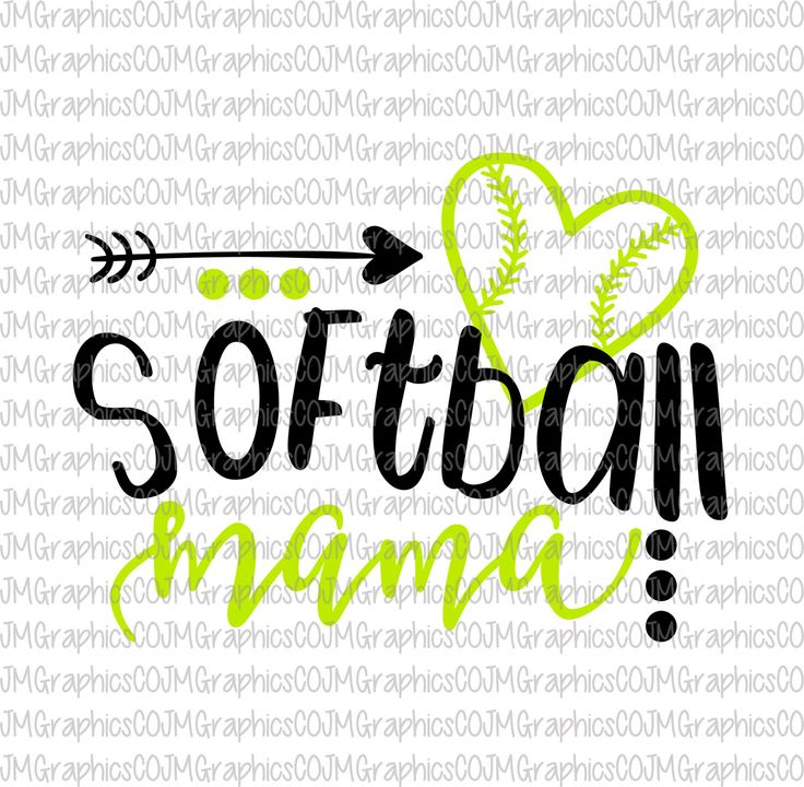 Beautiful Softball Mama Svg, Eps, Dxf, Png, Cricut, Cameo, Scan N