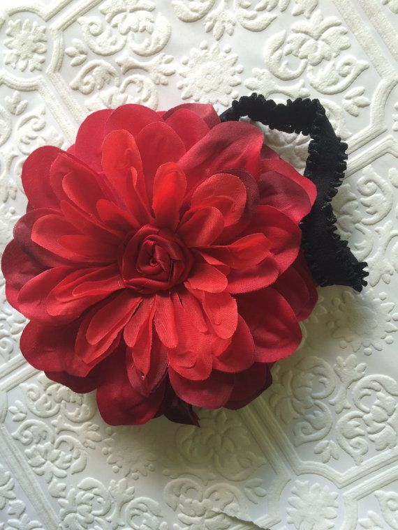 Big red headband baby headband big baby headband big by BazzyBears