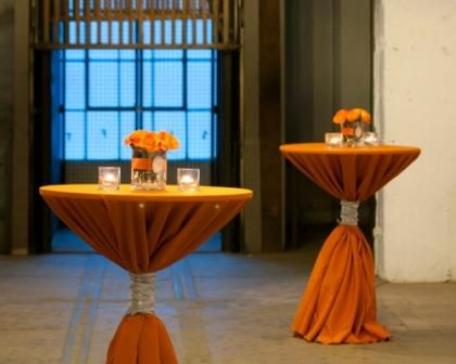 I Like The Shade Of Orange Linens  Orange And Silver : Wedding Linen  Tablecloth Sash Napkin Gray Grey Silver Orange Burnt Orange Reception Orange  Tables