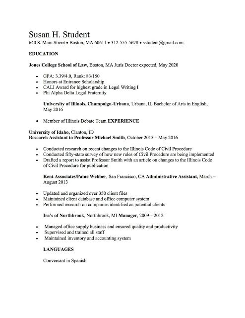 Law School Resume Templates Legal Intern  OCI\u0027s Law school