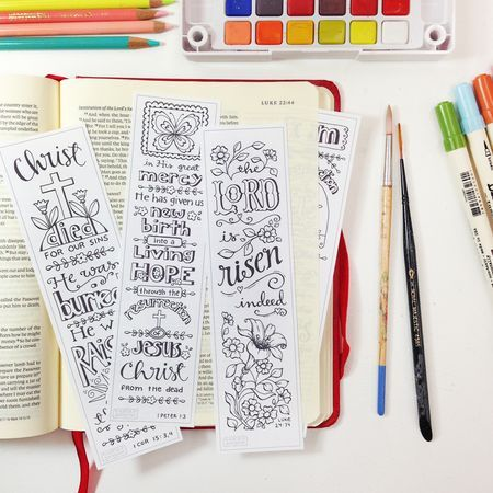 Bible Journal Bookmarks - use to trace images on to journaling bible pages http://karladornacher.typepad.com/karlas_korner/bible-journaling/