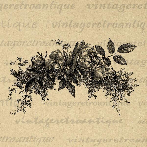 Rose Flowers Digital Image Download Collage Sheet Flower Artwork Ornament Jpg Png Eps Print No.3742 @ vintageretroantique.com #DigitalArt #Printable #Art #VintageRetroAntique #Digital #Clipart #Download #Vintage #Antique #Image #Illustration