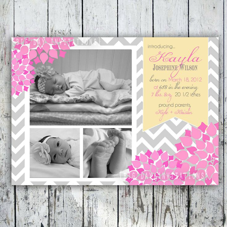 15 best Birth Announcement images – Baby Girl Announcements Pinterest