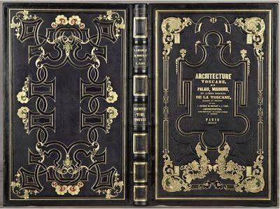 BOOKTRYST:  GRANDJEAN de MONTIGNY, A. and A. Famin. Architecture Toscane, ou Palais, Maisons, et Autres Edifices de la Toscane. Paris: P. Didot l'Ainé, 1815. 19th C. binding by F. Hromada