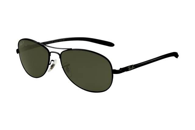 Ray Ban Tech RB8301 Sunglasses Black Frame Green Polar