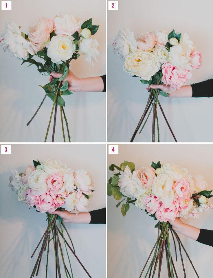 DIY Silk Flower Bouquet with Afloral | Silk flowers, Silk flower ...