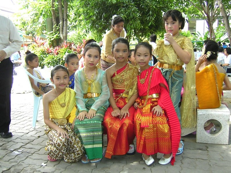 Connections: Thai children in traditional clothes #ExpediaWanderlust