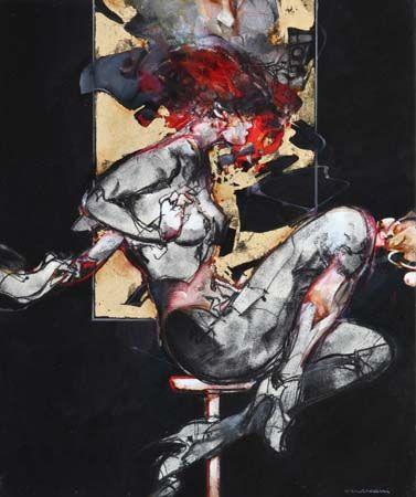 Vanni SALTARELLI, L'amour en concurrence, 55 x 46 cm, huile sur toile. http://www.galeriealaindaudet.fr/vanni-saltarelli/