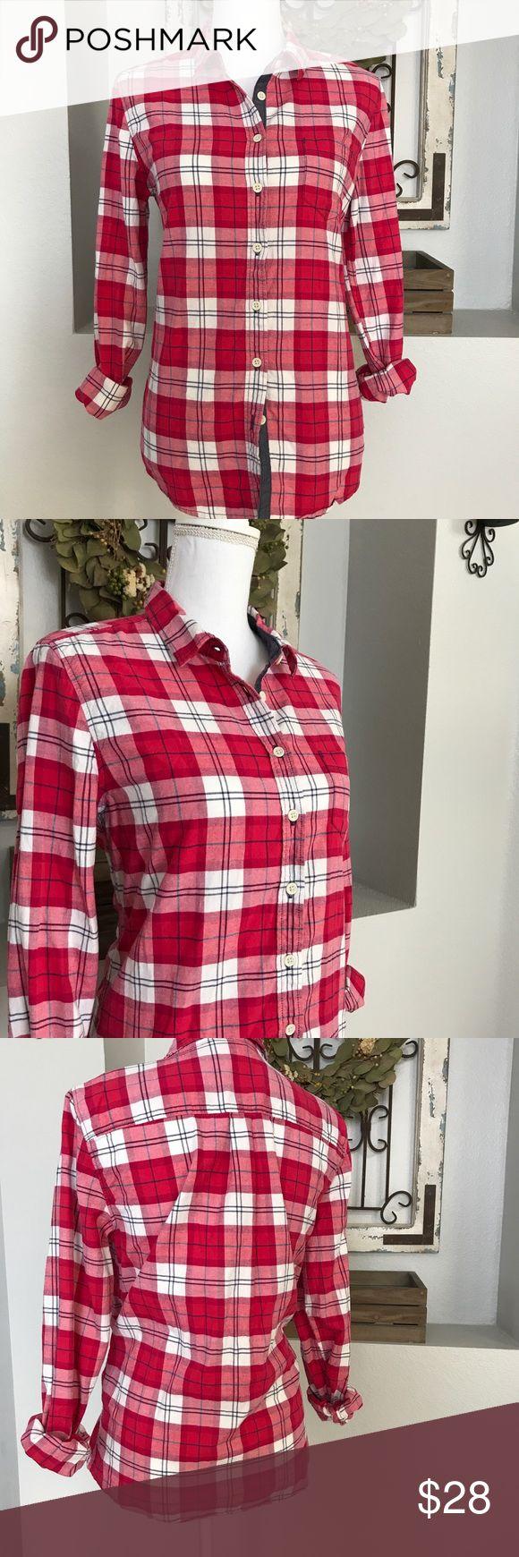 Joe Fresh Pink Plaid Flannel Button Down Joe Fresh Pink Plaid Flannel Button Down - Size medium. Joe Fresh Tops Button Down Shirts