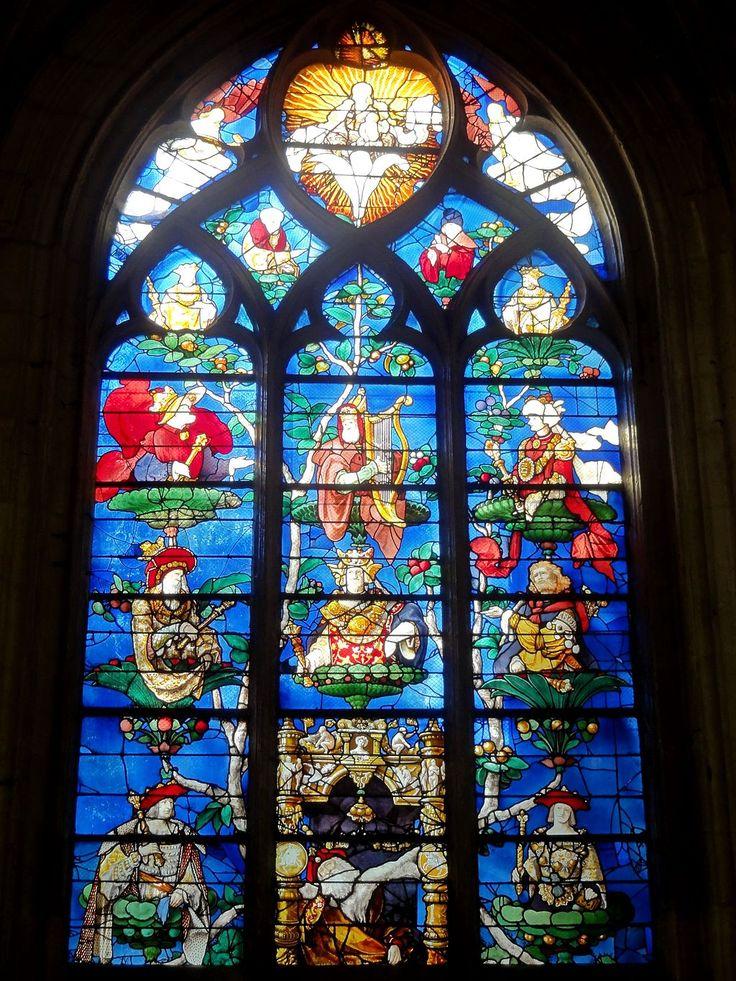 Tree of Jesse window, Church of Saint-Étienne, Beauvais, France, Engrand Le Prince, (1522-1524)