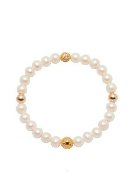 Nialaya Skyfall Pearl Bangle - Extra Small lEZUyS