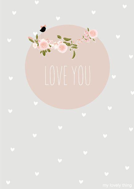 "Carte ""Love"" illustrée par My Lovely Thing"