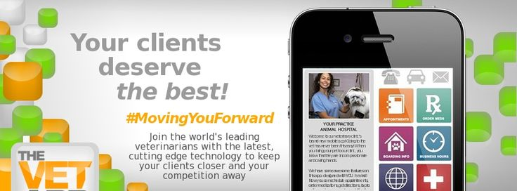 Check out our new Facebook Cover Photo! Sneak peek at our new design we are coming out with! #MovingYouForward #thevetapp