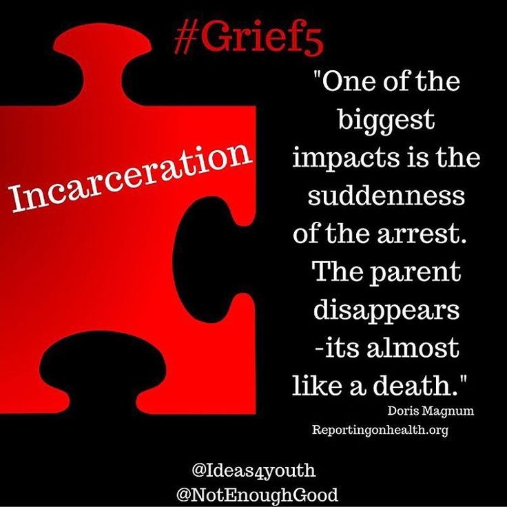 The ambiguity around the arrest of a parent adds to this #Grief5 experience of children and teens. #grief #loss #stigma #incarceration #childrenofincarceratedparents #kids #teens #children
