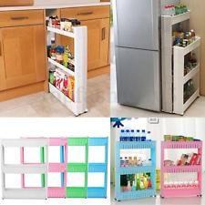 3 PIANI Carrello Cucina Portaspezie Organizzazione Storage Spice Rack Plastica