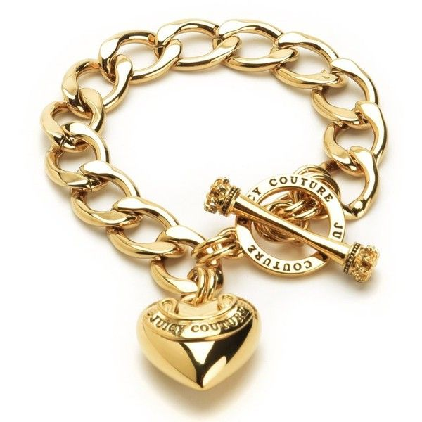 BANNER HEART STARTER BRACELET ❤ liked on Polyvore featuring jewelry, bracelets, juicy couture jewellery, heart jewelry, juicy couture jewelry, juicy couture bracelet and juicy couture