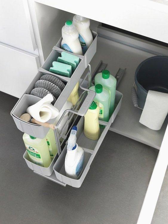 Apartment Kitchen Storage#Cabinets Containers Creative#Storage DIY Drawer Storag