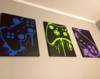 Video Game Controller Art by ControlFreakGameArt on Etsy