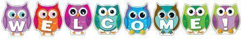 Bulletin Board Set Classroom Decoration Owl Welcome Bulletin Board Set Supplies