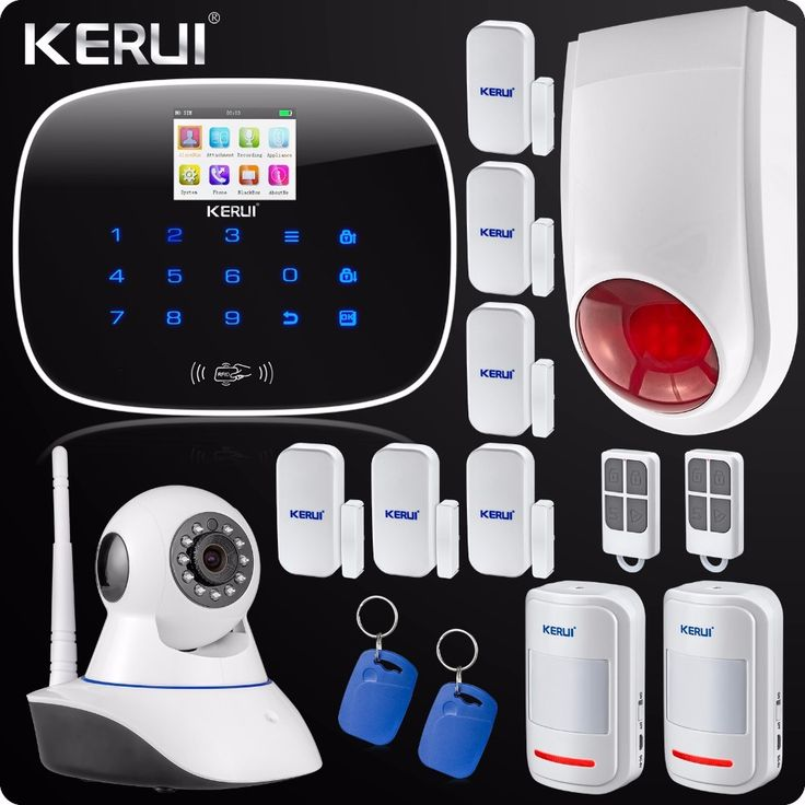 (169.99$)  Watch more here - http://ai3ss.worlditems.win/all/product.php?id=32599402773 - GSM  App Control Wireless Home Security Alarm System Wifi IP Camera SMS RFID Autodial SMS Detector Kit Wireless Flash Siren
