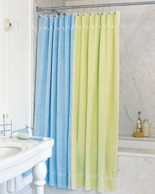 Bath towel shower curtains -- perfect for the kids' bathroom!