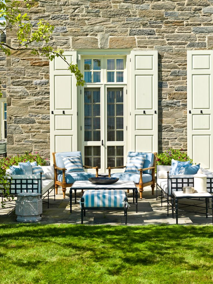 my exterior design at north shore residence great blend of janus et cie and michael taylor fabric and furniture