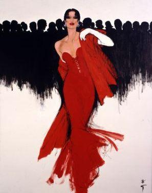 """(c) René Gruau pour Dior   """"Le luxe est une affaire d'argent,  l'élégance est une question d'éducation.""""  Sacha Guitry    René Gruau , c'..."""