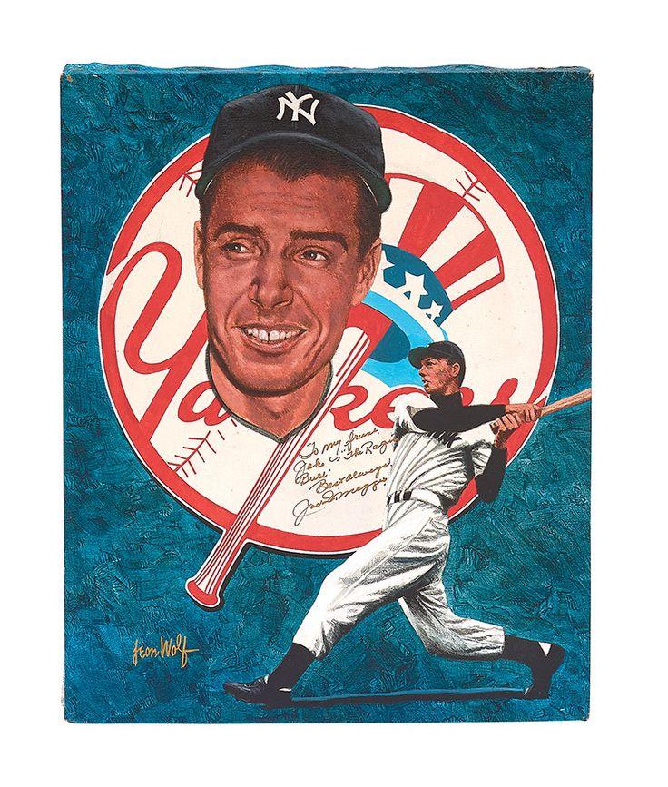 Joe DiMaggio by Leon Wolf