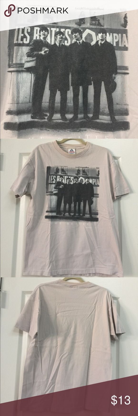 Beatles Band Men's Tee Beatles Band Men's Tee Some slight discoloration at collar, see pic. Besides that in great shape. Beside few wrinkles which will come out. Shirts Tees - Short Sleeve