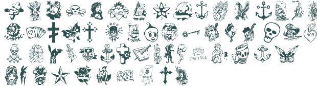 Tattoo Vieja Escuela 2 font download free (truetype)