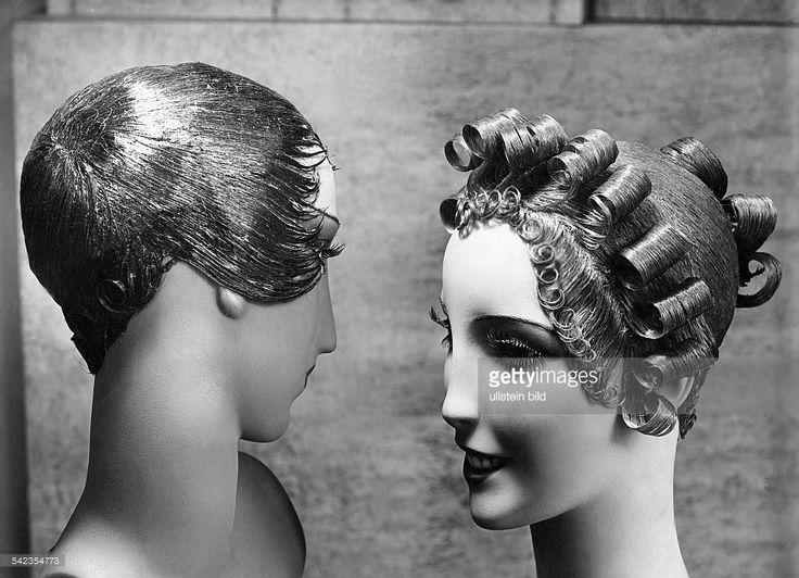 Neue Lackfrisur von Antoine Pariserschienen Dame 22/1932Foto Gilbert... News Photo | Getty Images