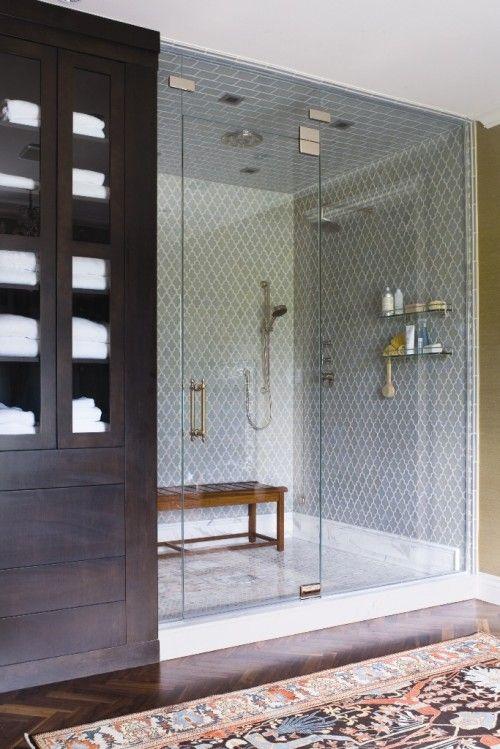 shower tileShower Room, Beautiful Bathroom, Large Shower, Shower Tile, Wall Tile, Master Baths, Big Shower, Amazing Shower, Dreams Shower