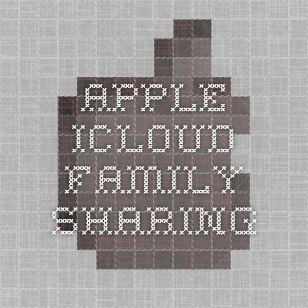 Apple - iCloud - Family Sharing