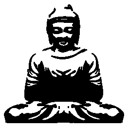 Buddha wall decal - I want to stencil this onto wine glasses and etch on the pattern