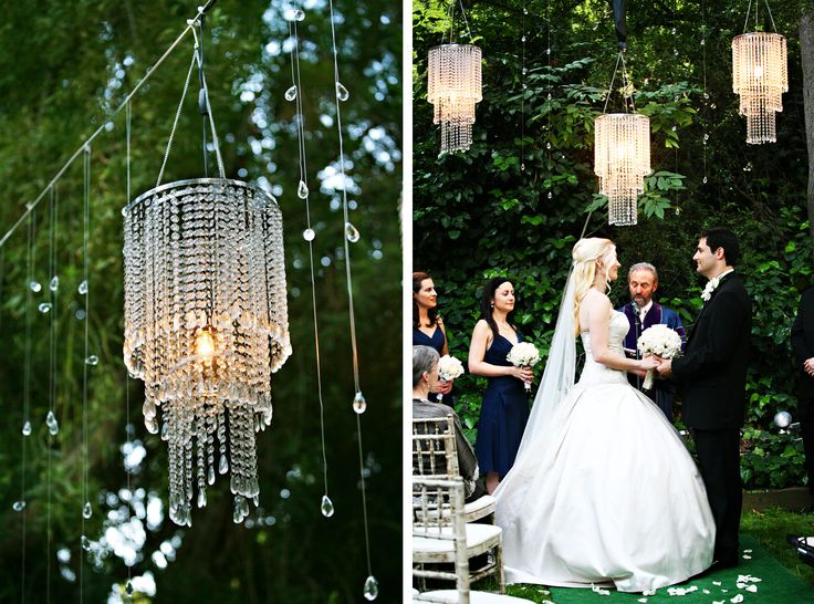 10 best wedding crystal chandelier centerpiece images on pinterest a group of mini chandeliers can create a magical space to say your wows or do aloadofball